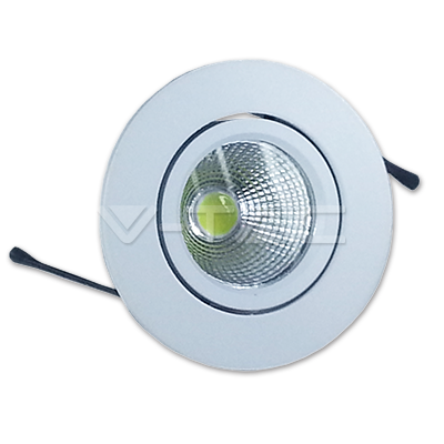 3W Spot LED Rotondo Corpo Bianco Bianco freddo