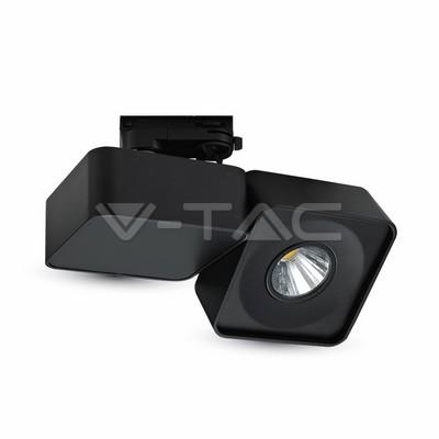 23W Proiettore a pista LED Bordo Nero Quadrato Bianco Freddo
