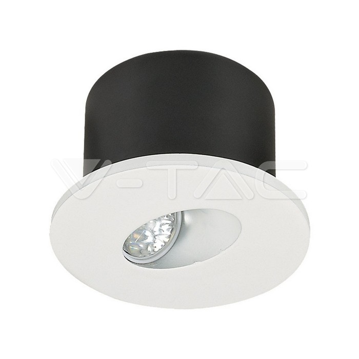 3W Spot LED Luce scale Rotondo Corpo Bianco Bianco Caldo
