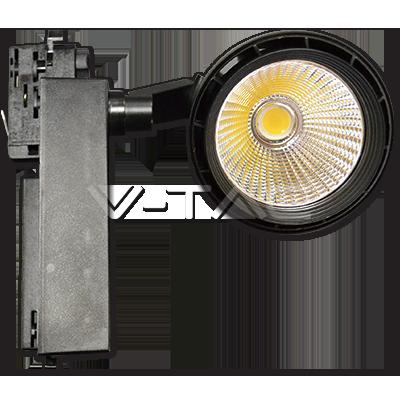 33W Proiettore a pista LED Bordo Nero Bianco Freddo