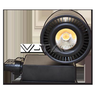 33W Proiettore a pista LED COB Bordo Nero Bianco Caldo