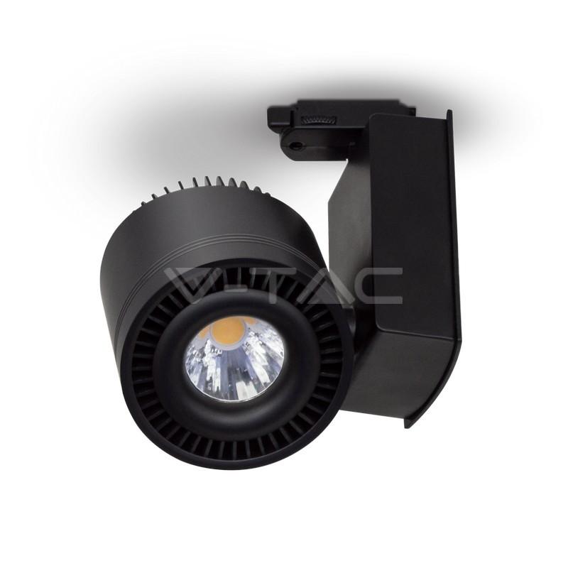 45W Proiettore a pista LED COB Bordo Nero Bianco Caldo
