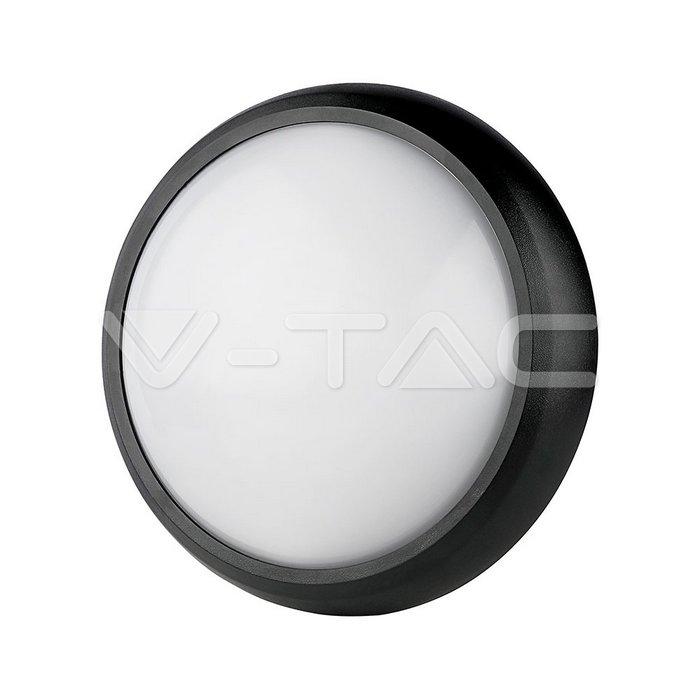 12W Plafoniera Corpo nero Rotonda Bianco caldo IP54