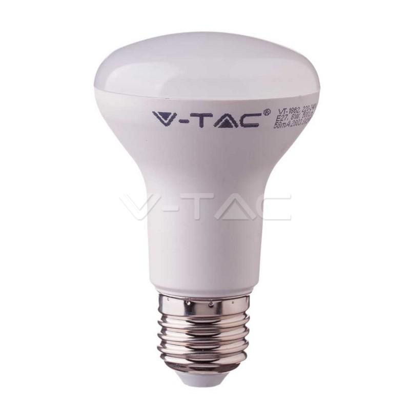 LED Lampadina SAMSUNG Chip 10W E27 R80 Plastica Bianco Caldo