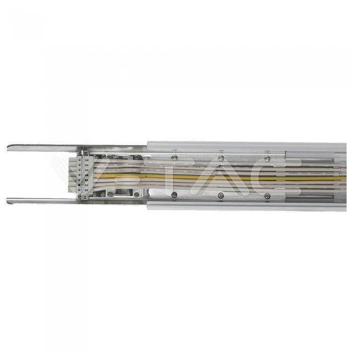 Linea S Seguire Trunking Rail 8 fili bianco