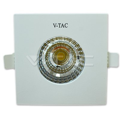 V-TAC VT-2906 SQ Faretto LED COB da incasso Quadrato 6W Colore Bianco 5000K IP65