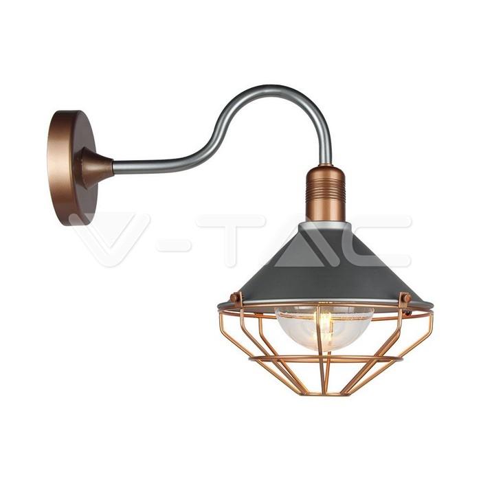 Wall Lamp Matt Rose Gold Down IP65
