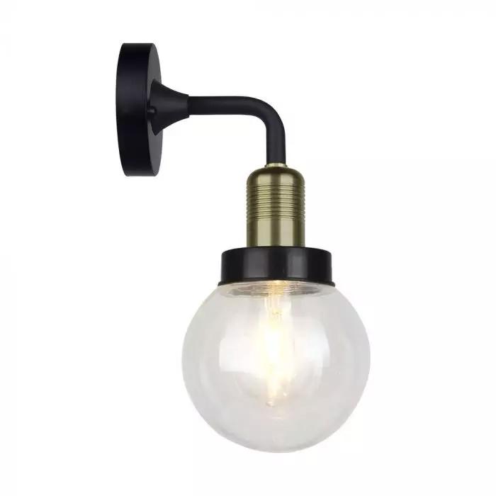 Wall Lamp Matt Black Down IP65