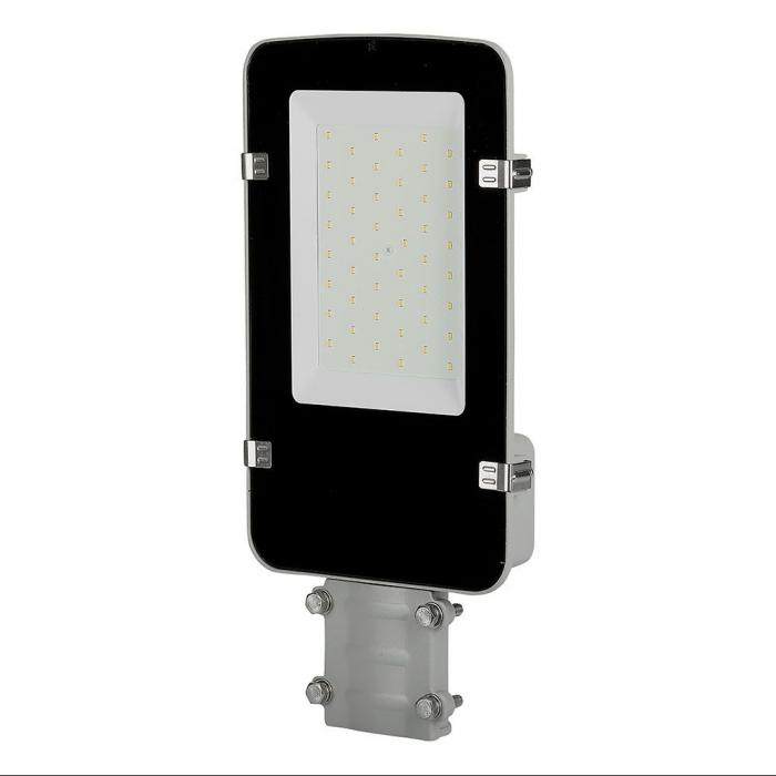 LED Armatura Stradale SAMSUNG Chip A++ 5 anni Warranty 30W Corpo Grigio 6400K