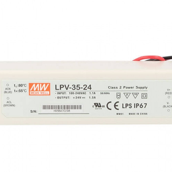 Alimentatore Trasformatore CV 24V 35W 1,5A IP67
