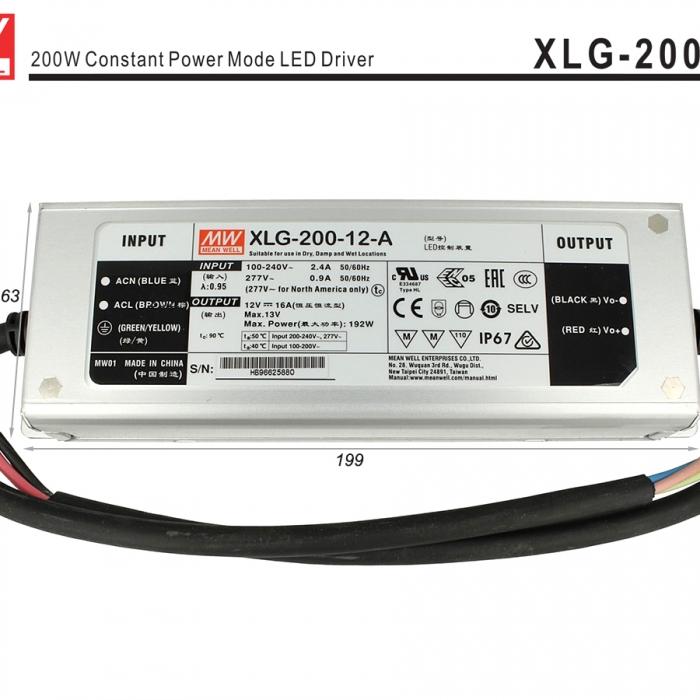 Alimentatore Trasformatore 12V 192W 16A IP67