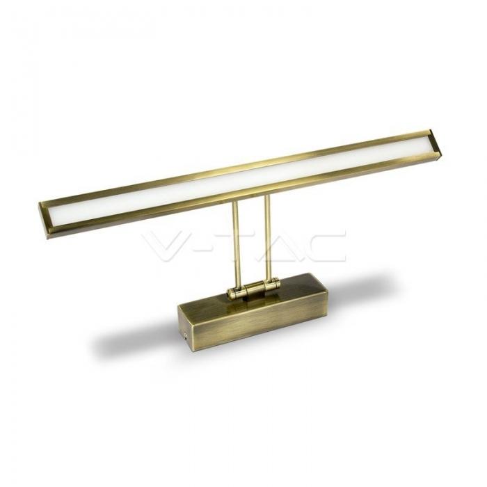 8W Lampada LED Specchio Oro Bianco naturale