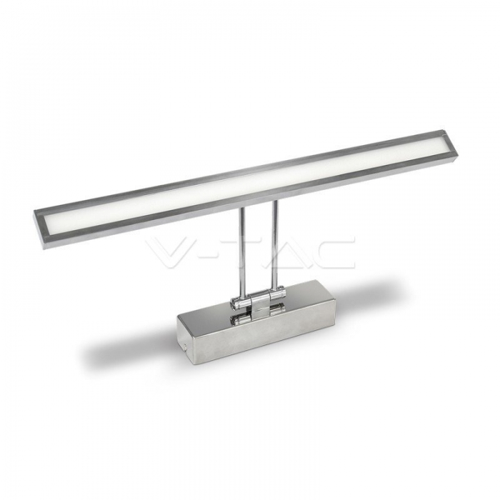 8W Lampada LED Specchio Cromo Bianco naturale