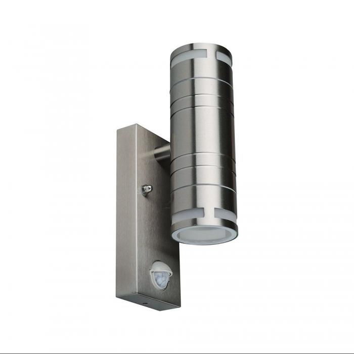 Wall Fitting Gu10 Steel Body Sensor  2 Way IP44