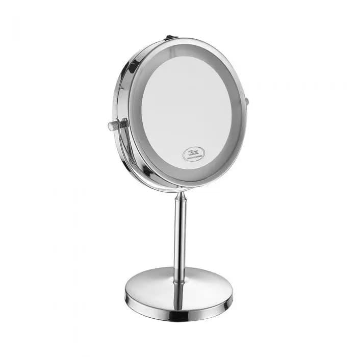 Specchio LED Rotondo 3W Double face Rotabile a 360° da Tavolo