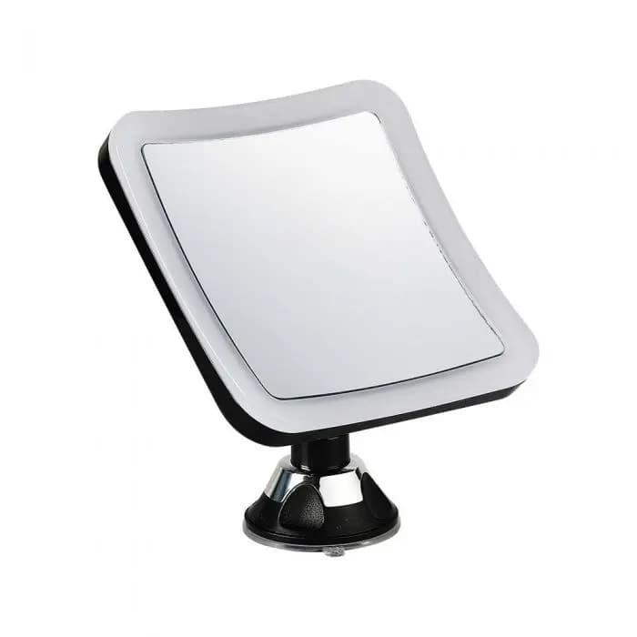 Specchio LED Quadrato 3.2W Portatile con Attacco a Ventosa