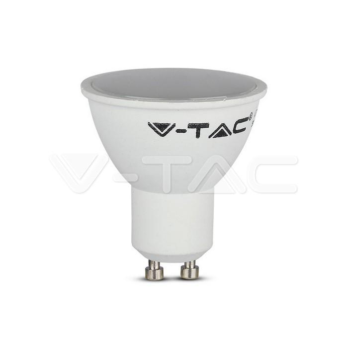 Lampadina LED faretto 5W GU10 SMD Plastica Bianca Bianco caldo
