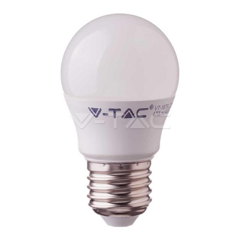 Lampadina LED SAMSUNG Chip 5.5W E27 G45 Plastica Bianco Caldo