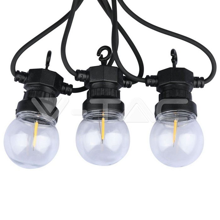 LED String Light 5M 10 Filamento Lampada 3000K