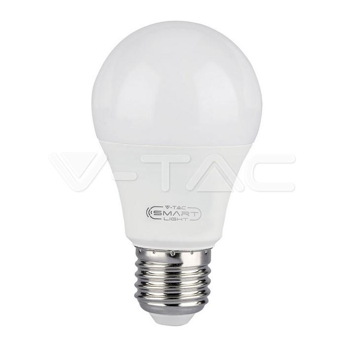 LED Lampadina 11W E27 A60 SMART WIFI RGB, Corpo Bianco, Luce Bianco Caldo