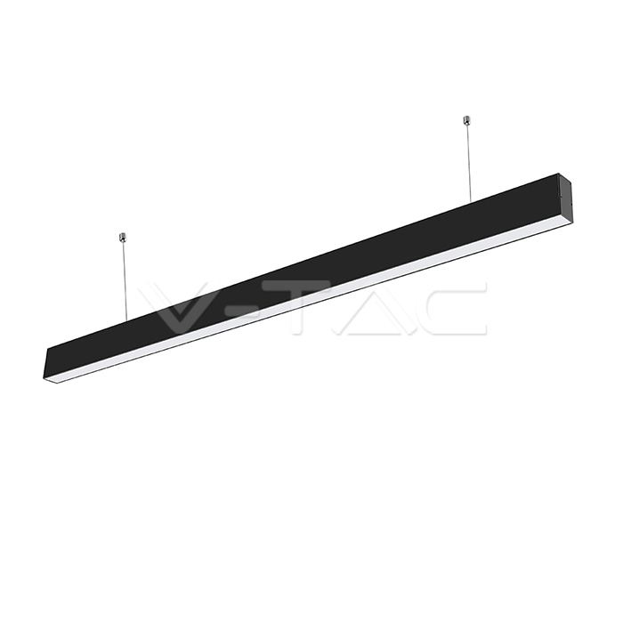 Luce lineare LED SAMSUNG Chip 40W Sospensione Corpo nero 4000K