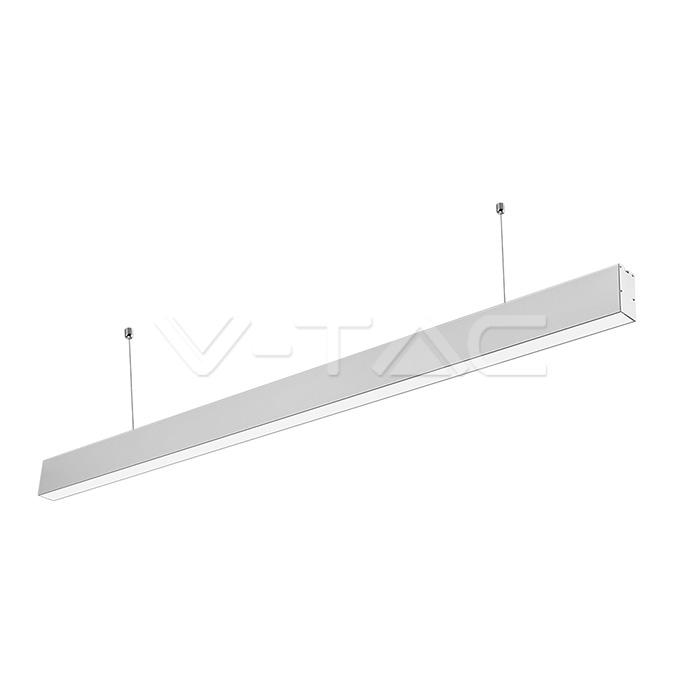 Luce lineare LED SAMSUNG Chip 40W Sospensione Corpo d'argento 4000K