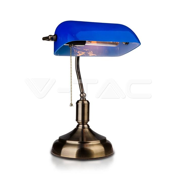 Lampada da tavolo per banchieri con interruttore E27 Blu