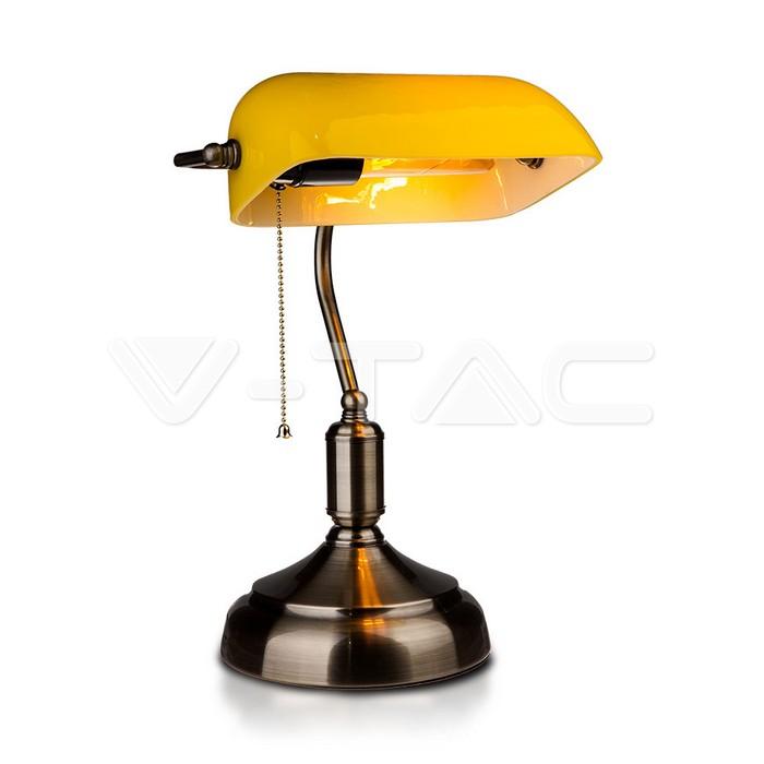 Lampada da tavolo per banchieri con interruttore E27 gialla