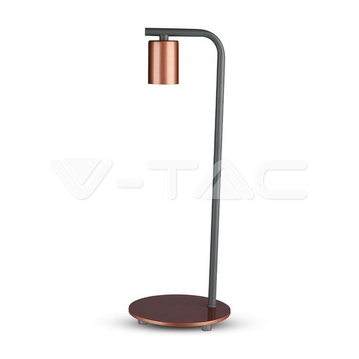 Lampada da tavolo di design E27 Holder Switch Bronzato rosso