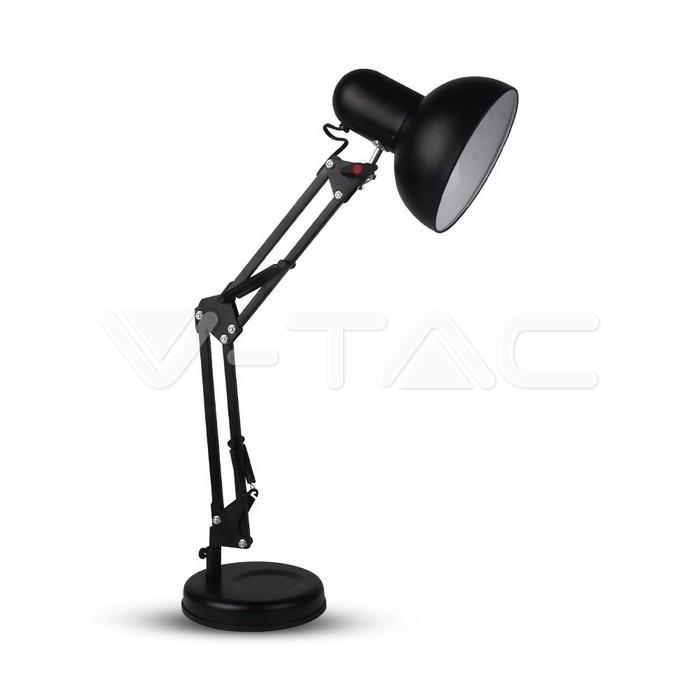 Lampada da tavolo di design regolabile in metallo + interruttore e supporto E27 Nera