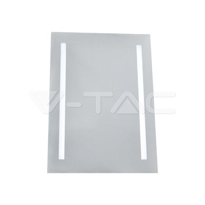 4W LED Specchio Rettangolo IP44 antinebbia 6400K + 13W Riscaldatore