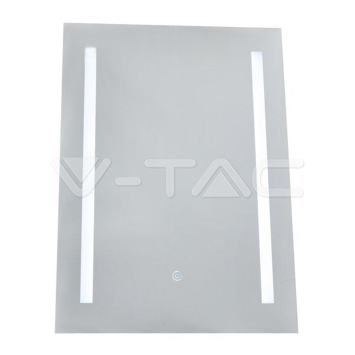 10W LED Specchio Rettangolo IP44 antinebbia 3 in 1 + 17W Riscaldatore