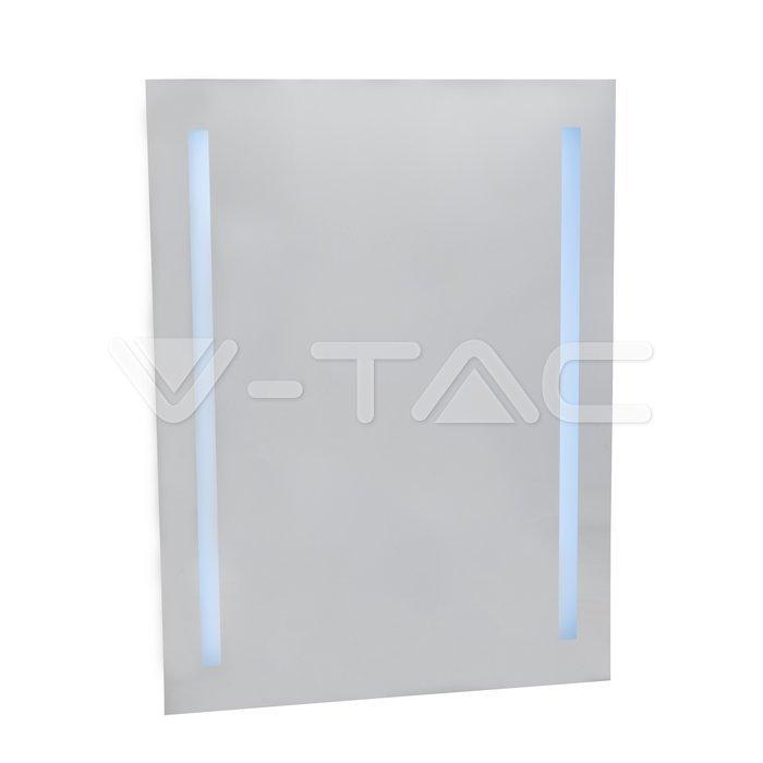 7W LED Specchio Rettangolo IP44 antinebbia 6400K + 31W Riscaldatore