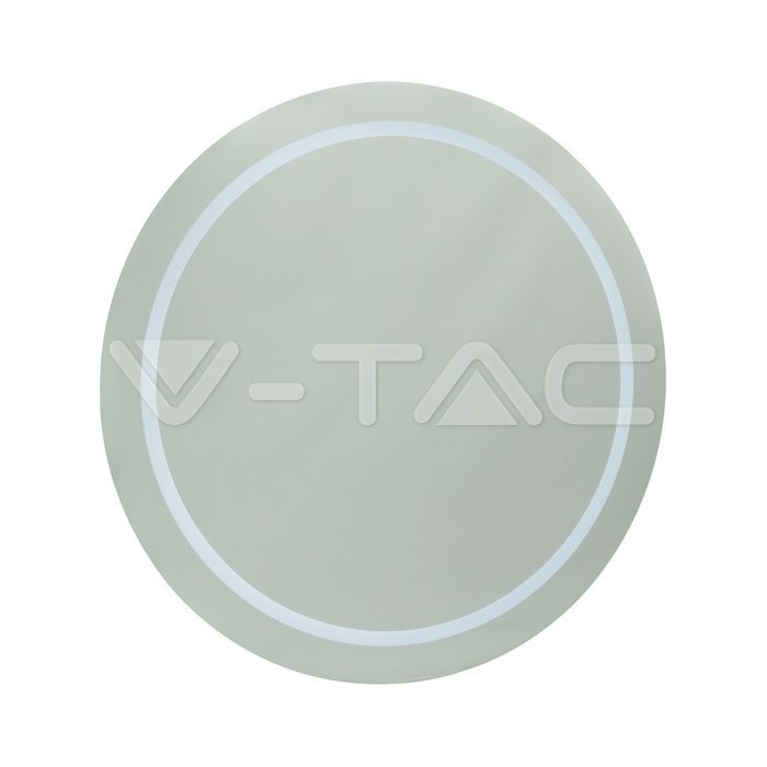 6W LED Specchio Rotondo IP44 antinebbia 6400K + 19W Riscaldatore