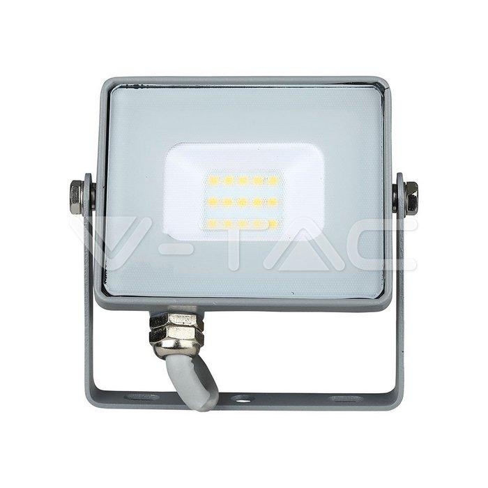 10W LED Proiettore SMD SAMSUNG Chip Corpo Grigio 3000K