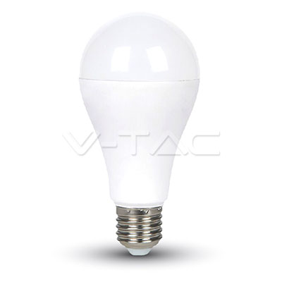 Lampadina LED 15W A65 E27 200'D Termoplastico Bianco naturale
