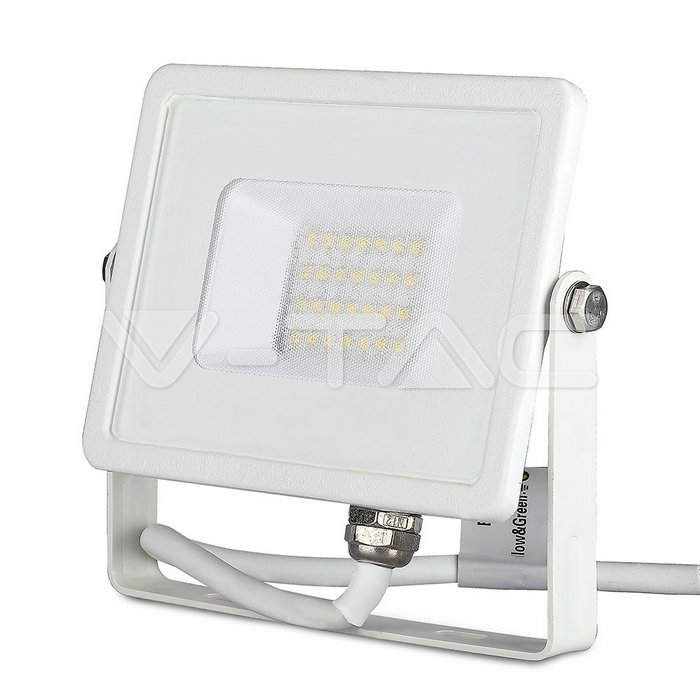 20W LED Proiettore SMD SAMSUNG Chip Corpo Bianco 3000K