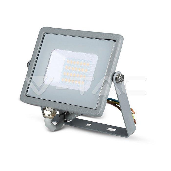 20W LED Proiettore SMD SAMSUNG Chip Corpo Grigio 3000K