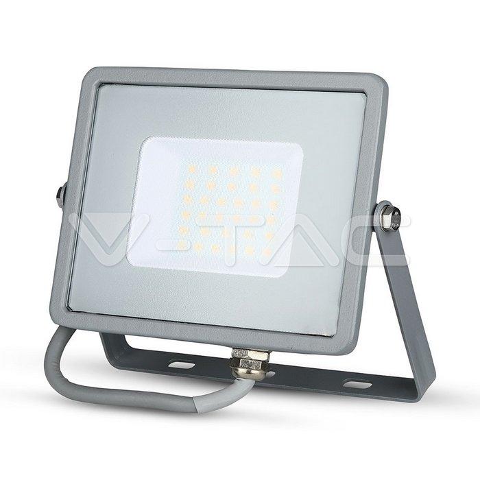 30W LED Proiettore SMD SAMSUNG Chip Corpo Grigio 3000K