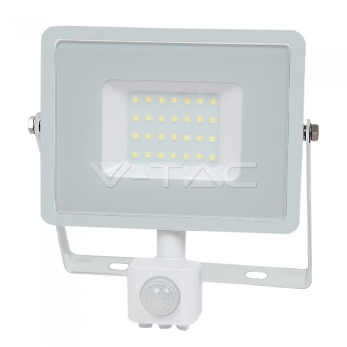 30W LED Proiettore con sensore SAMSUNG Chip Cut-OFF funzione Corpo Bianco 6400K