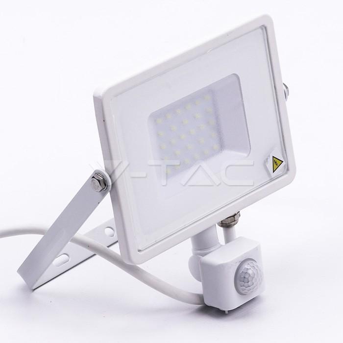 30W LED Proiettore con sensore SAMSUNG Chip Cut-OFF funzione Corpo Bianco 6400K img 2