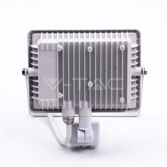 30W LED Proiettore con sensore SAMSUNG Chip Cut-OFF funzione Corpo Bianco 6400K img 3