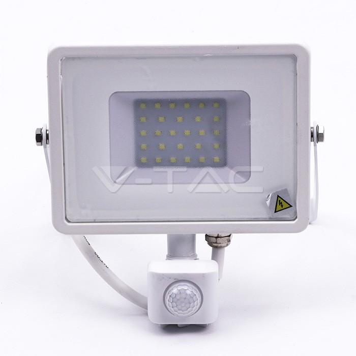 30W LED Proiettore con sensore SAMSUNG Chip Cut-OFF funzione Corpo Bianco 6400K img 1