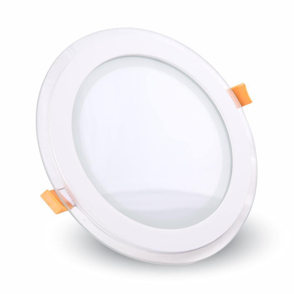 6W Pannello LED Mini Vetro rotondo Bianco caldo