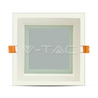 12W Pannello LED Mini Vetro quadrato Bianco freddo