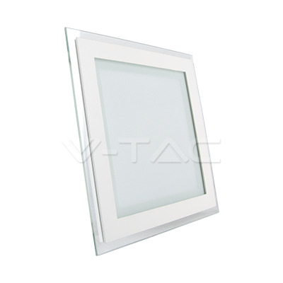 12W Pannello LED Mini Vetro quadrato Bianco caldo