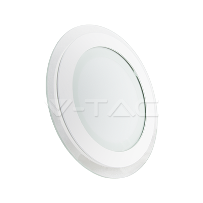 12W Pannello LED Mini Vetro rotondo Bianco freddo