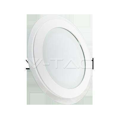 12W Pannello LED Mini Vetro rotondo Bianco caldo