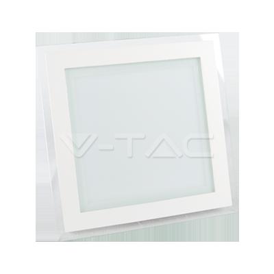 18W Pannello LED Mini Vetro quadrato Bianco caldo