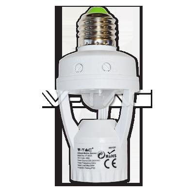 Sensore Con E27 Adattatore
